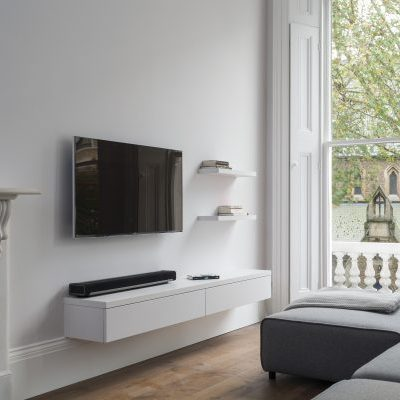 White Bespoke TV Unit Design