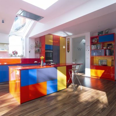 Fitted Colorful Kitchen