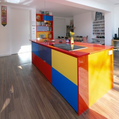 Custom Colorful Kitchen