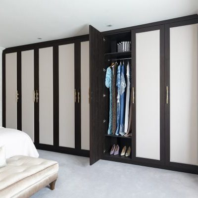 White and Oak Fitted Wardrobe