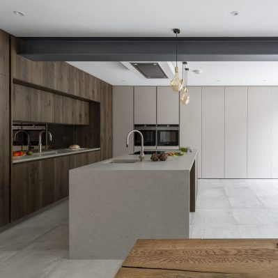 Wood Creamy Bespoke Kitchen Design