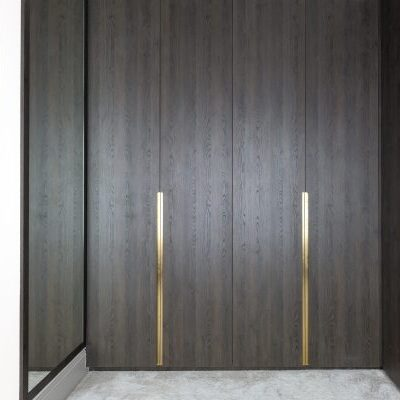 Oak and brass Handle Fitted Wardrobe